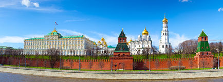 Panorama de Moscou Kremlin images libres de droits