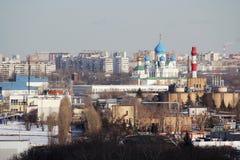 Panorama de Moscou no distrito administrativo de Pechatniki foto de stock royalty free