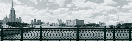 Panorama de Moscou pris du pont de Novoarbatsky Photo libre de droits