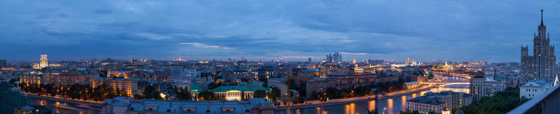 Panorama de Moscovo fotografia de stock