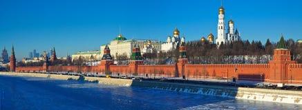 Panorama de Moscovo Kremlin no winte Imagens de Stock Royalty Free