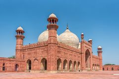 Panorama de mosquée de Badshahi Image stock