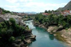 Panorama de Mostar Photo libre de droits