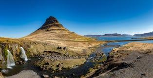 Panorama de Mt Kirkjufell Fotos de archivo