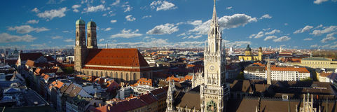 Panorama de Munich Photographie stock