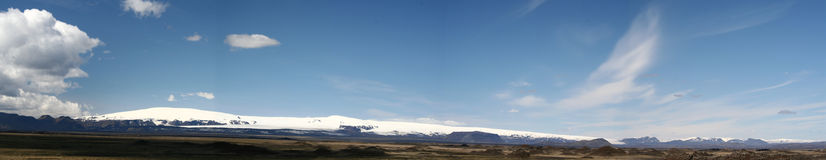Panorama de Myrdallsjökull Imagen de archivo