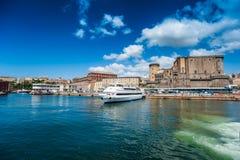 Panorama de Nápoles Fotos de archivo