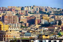 Panorama de Nápoles, Itália Fotografia de Stock
