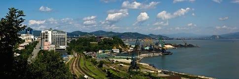 Panorama de Nakhodka de baie Photo stock