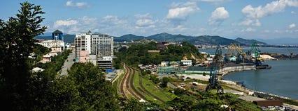 Panorama de Nakhodka de baie Photographie stock