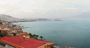 Panorama de Napoli Imagen de archivo libre de regalías