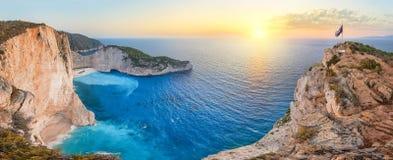 Panorama de Navagio imagen de archivo libre de regalías