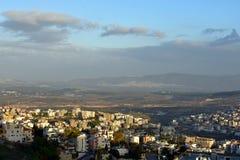 Panorama de Nazaret imagen de archivo