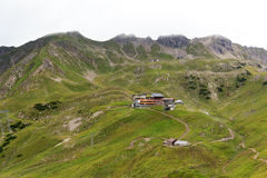 Panorama de Nebelhorn imagens de stock royalty free