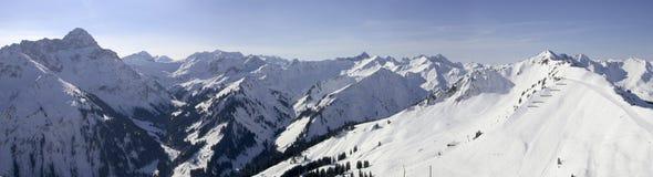 Panorama de neige Photographie stock libre de droits