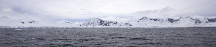 Panorama de Neko Harbor, Antarctique Image stock