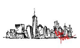Panorama de New York Fotos de Stock