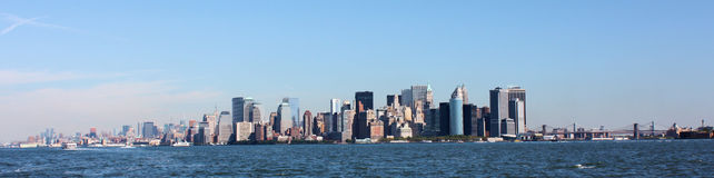 Panorama de New York City photo stock