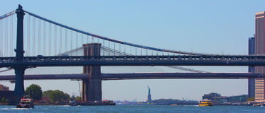 Panorama de New York City Photo stock
