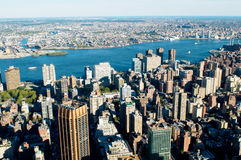 Panorama de New York City fotografia de stock