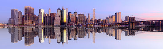 Panorama de New York City Images libres de droits