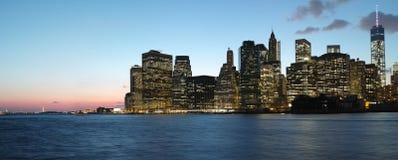 Panorama de New York City Foto de archivo