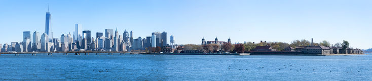 Panorama de New York City Imagens de Stock Royalty Free