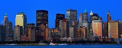 Panorama de New York City Imagen de archivo