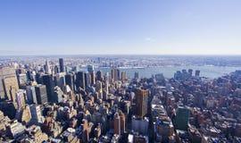 Panorama de New York City do estado do império Imagens de Stock Royalty Free