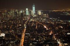 Panorama de New York City Manhattan Images libres de droits