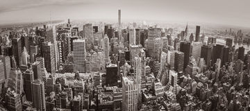 Panorama de New York City Manhattan imagem de stock royalty free