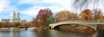 Panorama de New York City Manhattan Central Park Foto de archivo libre de regalías