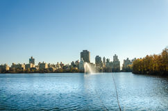 Panorama de New York City Manhattan Central Park Image libre de droits