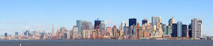 Panorama de New York City Manhattan de ville Image stock