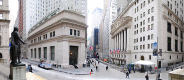 Panorama de New York City Wall Street image libre de droits
