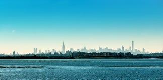 Panorama de New York com a paisagem no primeiro plano Imagens de Stock