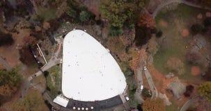 Panorama de New York da opinião aérea de Central Park vídeos de arquivo