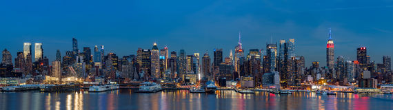 Panorama de New York em presidentes Dia Foto de Stock Royalty Free