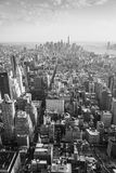 Panorama de New York en noir et blanc Photo stock