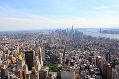 Panorama de New York, Manhattan Photos libres de droits