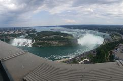 Panorama de Niagara Falls fotografia de stock