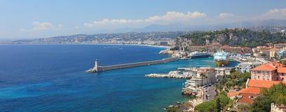 Panorama de Nice. Photographie stock libre de droits