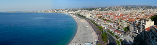 Panorama de Nice Photo stock