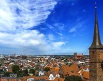 Panorama de Nicholas Church Alemania del santo de Wismar Fotografía de archivo libre de regalías