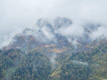 Panorama de niebla Imágenes de archivo libres de regalías