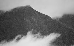 Panorama de niebla Fotografía de archivo libre de regalías