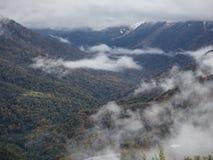 Panorama de niebla Imagenes de archivo