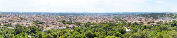 Panorama de Nimes Imagens de Stock Royalty Free