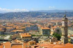 Panorama de Niza, Francia Foto de archivo libre de regalías