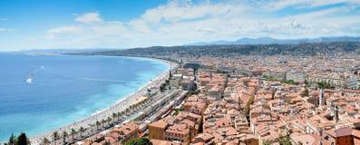 Panorama de Niza, Francia Imagen de archivo libre de regalías